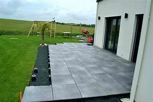 Prix Carrelage Exterieur : terrasse exterieur sur plot veranda ~ Melissatoandfro.com Idées de Décoration