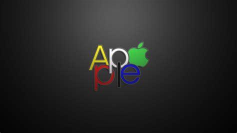 apple text logo hd wallpaper wallpaperfx
