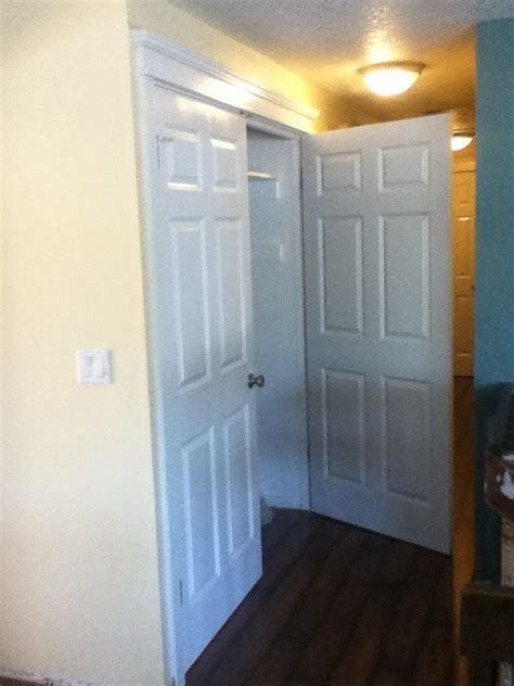 how complicated is it to convert a hinged two door closet