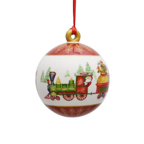 villeroy  boch porcelain ball ornament  silver