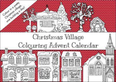 activity village christmas colouring advent calendar