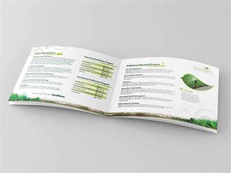 landscaping company booklet design brochure builders