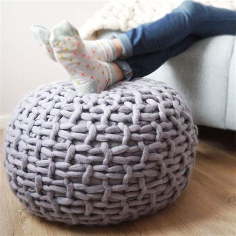 knitted pouf ottoman best 25 knitted pouffe ideas on knitted pouf