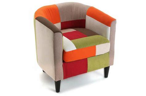 fauteuil multicolore patchwork fauteuil crapaud pas cher