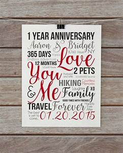 first year anniversary 1 year gift wife husband With one year anniversary wedding gifts