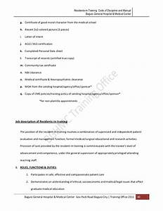 Hospital Medical Certificate Format Bgh Mc Manual For Residents