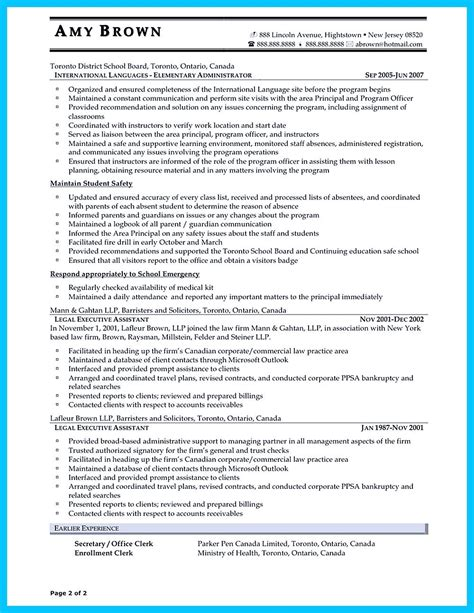 Sle Resume Administrative Assistant by In Writing Entry Level Administrative Assistant Resume