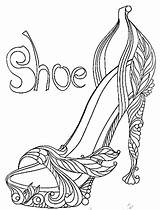 Coloring Pages Shoes Adult Heels Shoe Heel Sheets Fairy Colouring Adults Books Paint Popular sketch template