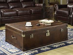 leather trunk coffee table coffee table design ideas With leather chest coffee table