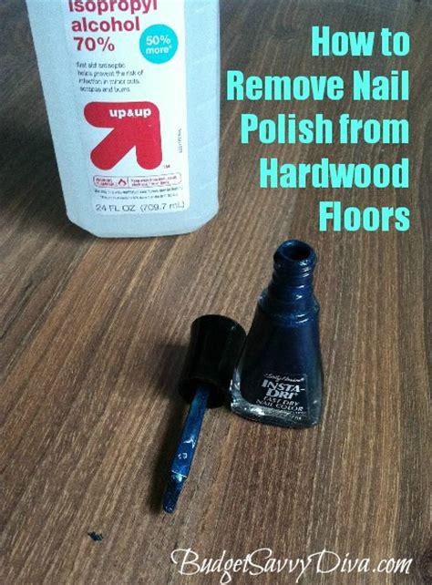 remove nail polish  hardwood floors budget
