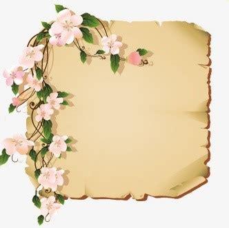 Marcos de Flores Vintage PNG para descargar