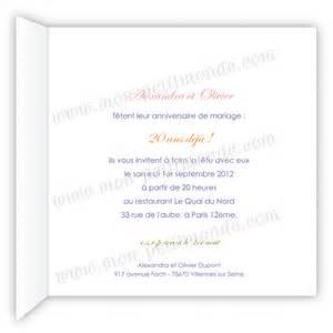 anniversaire de mariage 20 ans modele lettre anniversaire 20 ans de mariage document