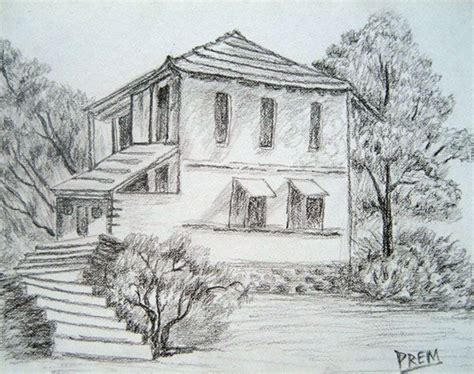 Beautiful Simple House Sketch simple pencil drawings of houses simple house