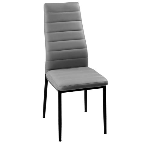lot de 6 chaises grises deco in lot de 6 chaises gris iris iris grisx6