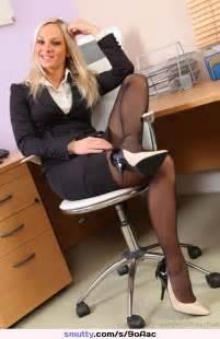 Blonde Stocking Nylons Nylonstockings Office