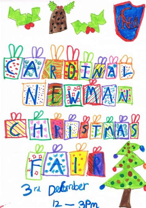 cardinal newman catholic primary school christmas fair poster competition