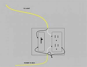 how do i wire a single pole switch from hot plug in the With switch box wiring