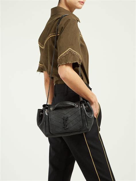 saint laurent nolita small quilted leather bag  black lyst
