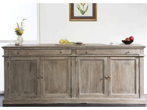 bureau bois gris buffet souverain en bois de manguier aspect vieilli