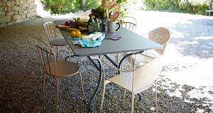 Table De Jardin En Metal : 180x100 cm romane table outdoor furniture ~ Teatrodelosmanantiales.com Idées de Décoration