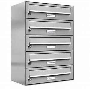 Briefkasten Mit Klingel Aufputz : 5er aufputzanlage edelstahl post liegend jetzt g nstig ~ Yasmunasinghe.com Haus und Dekorationen