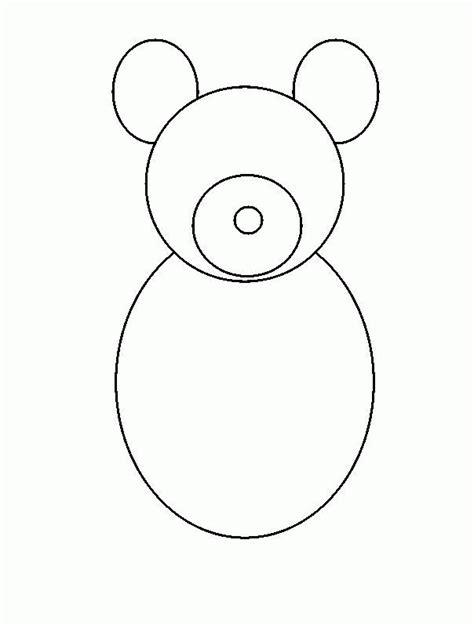simple teddy bear drawing coloring pages