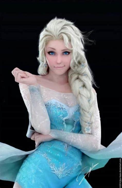 这图中cosplay冰雪奇缘艾莎的人是谁?百度知道