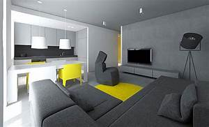 Modern small flat interior design by tamizo architects for Flat interior decoration tips