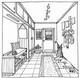 Perspective Point Coloring Pages Drawing Interior Perspektiv Drawings Colouring Skisser Google Sketch Lessons Soek Sheets Adult Sketches Magazine Window Template sketch template