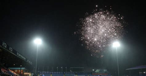 Fireworks display in Stockport vs West Ham FA Cup tie was ...