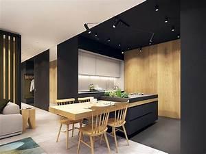 Appartement Design Avec Des Touches De Couleurs Turquoise
