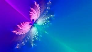 1366x768 Blue & Pink Butterfly Abstract desktop PC and Mac ...
