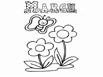 March Coloring Marzo Printable Colorear Meses Ingles