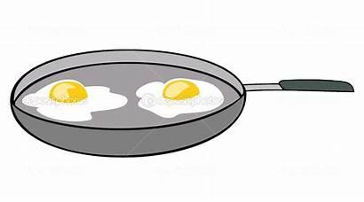 Eggs Sunny Side Pan Frying อน Jock