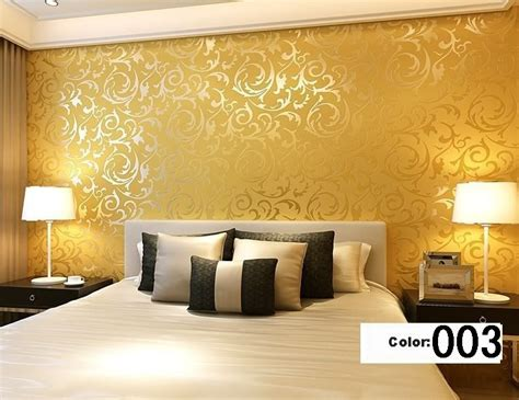 Goldene Tapete Wohnzimmer by Modern 3d Background Vinyl Wallpaper For Living Room Gold