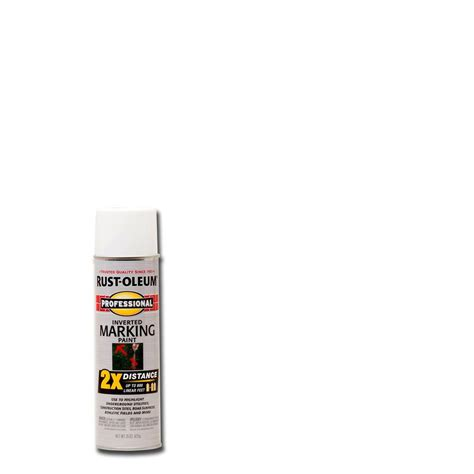 rust oleum professional 15 oz 2x white marking spray paint 6 pack 266593 the home depot