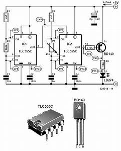Infrared Light Alarm Transmitter Circuit Schematic In 2019