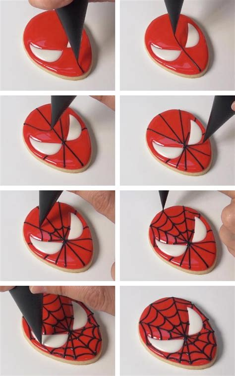 spider man cookies templates hanielas recipes