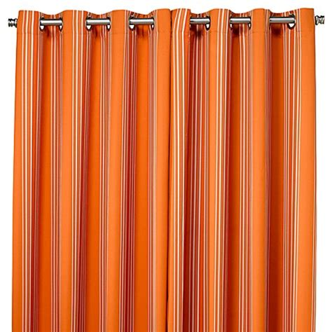 orange striped curtains buy commonwealth home fashions gazebo striped 84 inch