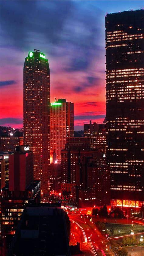 miami  night city lights android wallpaper