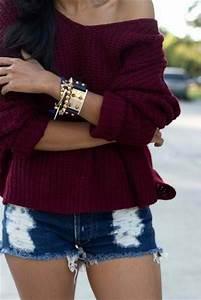 Jacket: celebrity, shorts, jewels, sweater, burgundy ...