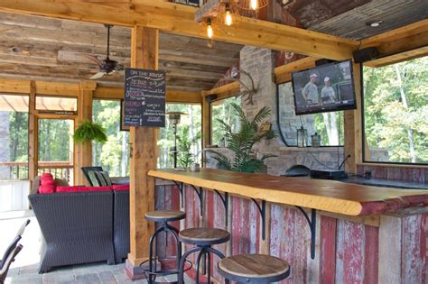 rustic outdoor kitchen ideas chic outdoor kitchens and bar design in country rustic style design with stained wood kitchen