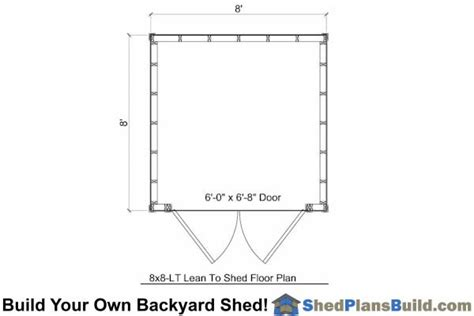 8x8 shed floor plans 8x8 lean to shed plans build a lean to shed
