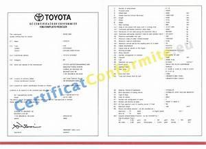 Certificat De Conformité Mercedes : certificat conformit toyota coc france ~ Gottalentnigeria.com Avis de Voitures