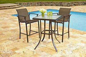 Garden Oasis Harrison 3 Piece High Bistro Set