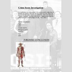 Intermediate Esl Worksheets Crime Scene Investigation
