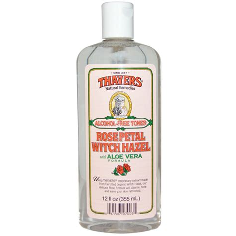 thayers alcohol free rose petal witch hazel with aloe vera 12 fluid ounce free toner petal witch hazel with aloe vera 12fl oz 355ml by thayers