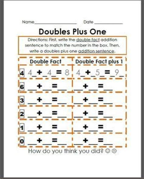 132 Best Images About School  Math  Doubles & Doubles +1 On Pinterest  Facts, Student And Math