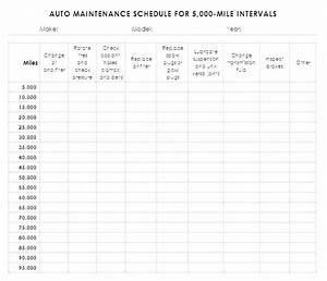 Equipment Schedule Template  Auto Maintenance Log Book