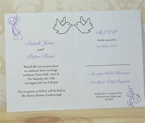dove and swirl wedding invitation and rsvp by sweet pea With wedding invitation rsvp on website